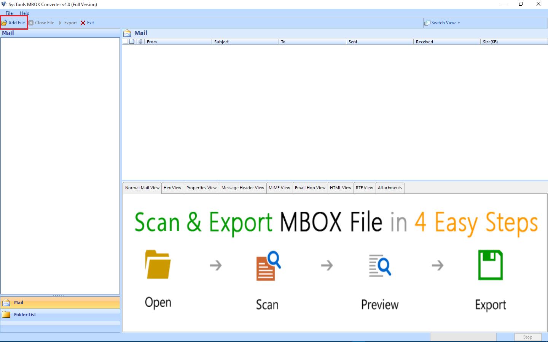Add File or press Alt+A