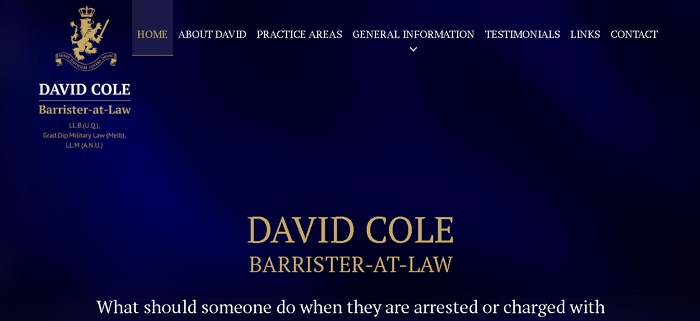 David Cole Barrister-at-Law