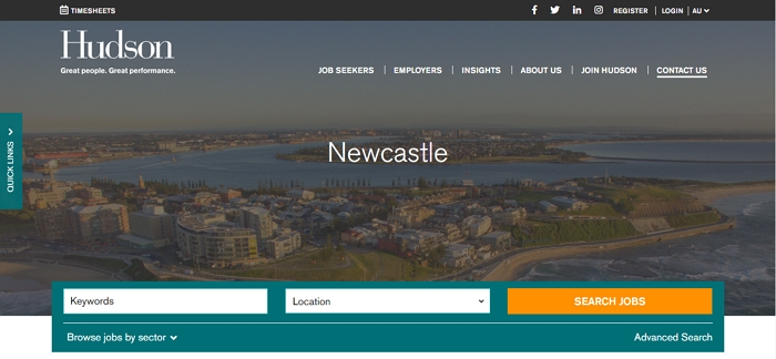 Hudson Recruitment Agency Newcastle