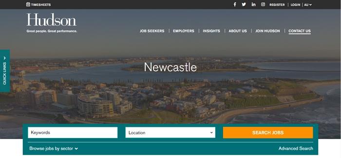 Hudson Recruitment Agency Newcastle