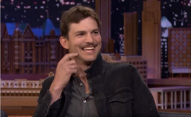 "Ashton Kutcher says Adele is the reason behind his ""spite 'stache"""