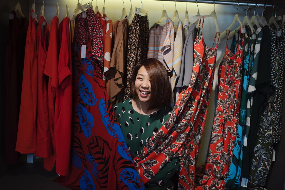 choosing clothes - wardrobe woman