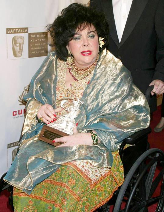 Liz Taylor wheelchair