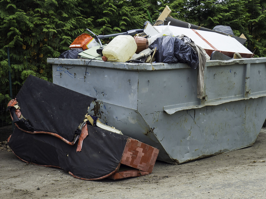 Not packing your skip efficiently