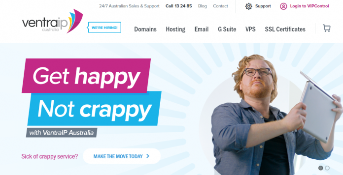 VentraIP Review - Australian hosting and domain names