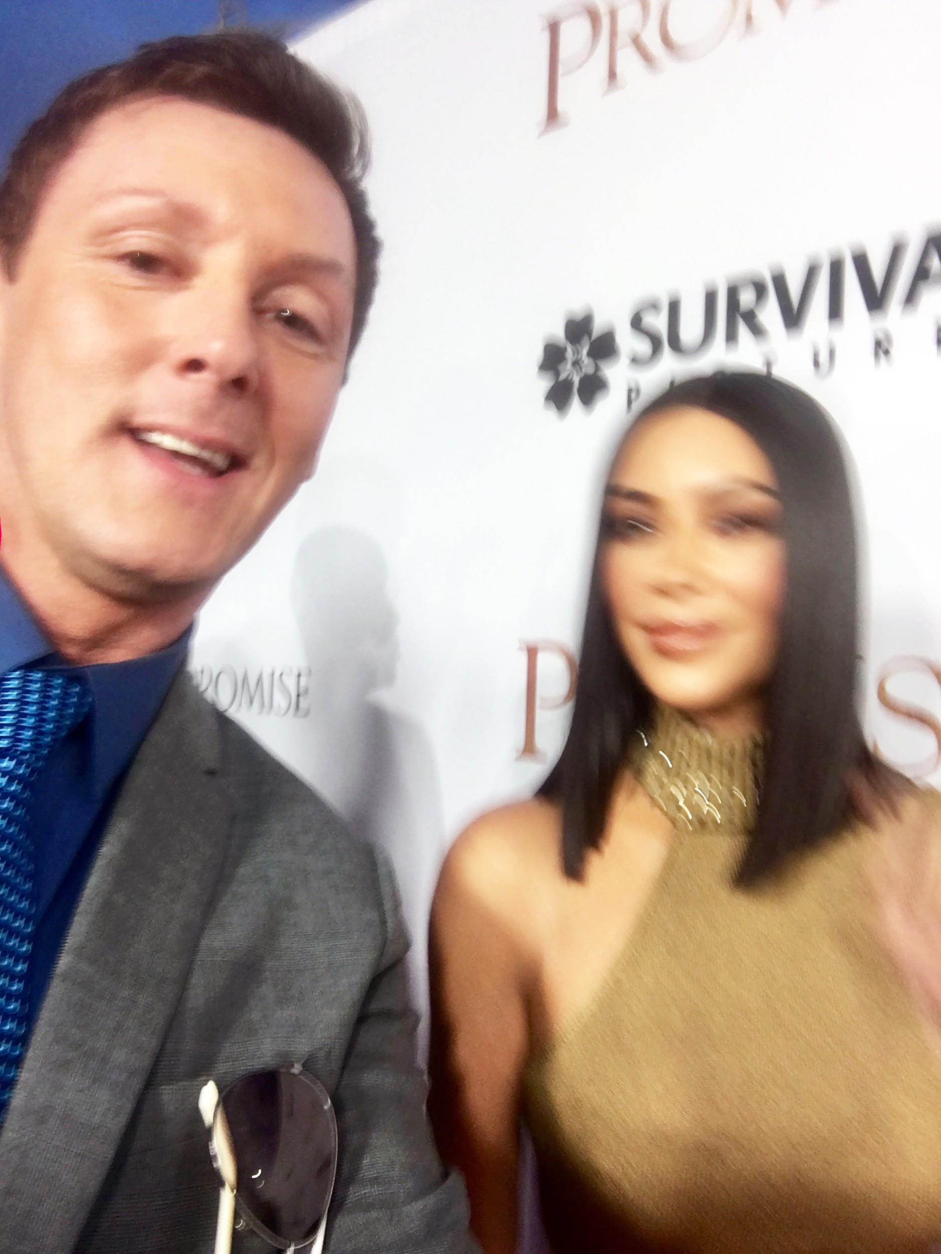 Kim laughed off Sean's first attempt at taking a selfie with her