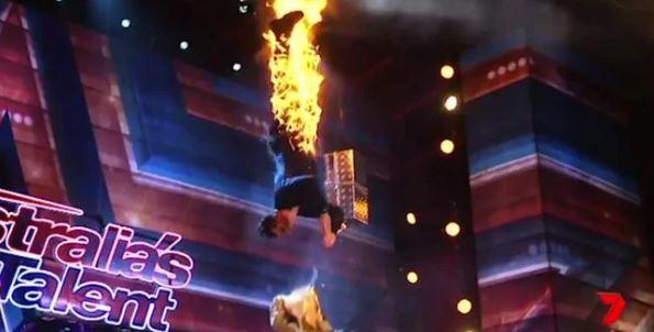 Australias Got Talent stunt