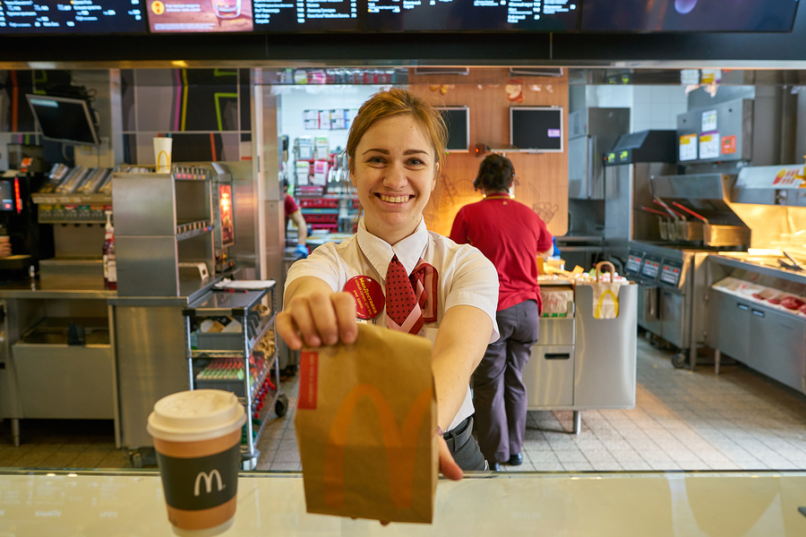 franchising - McDonald's - serving hamburgers