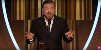 Ricky Gervais, Golden Globes 2020