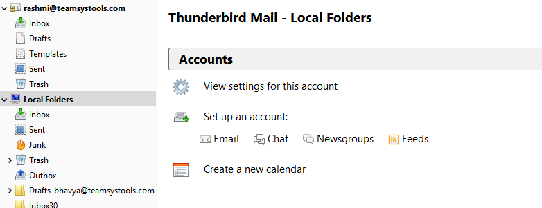 Thunderbird emails settings after transfer from Outlook