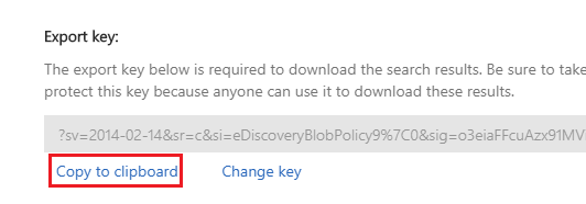Download result and copy to clipboard Change Key