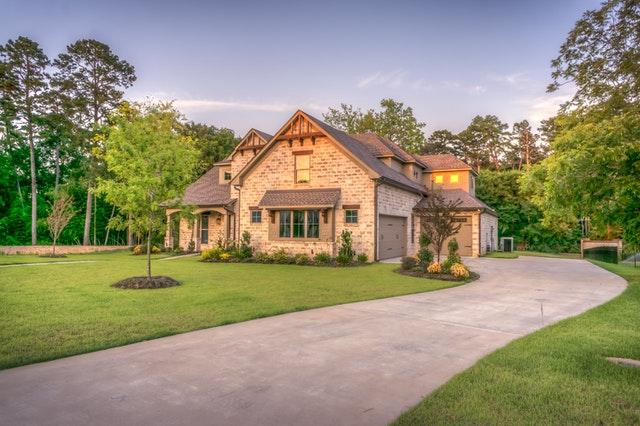 Beige bungalow house