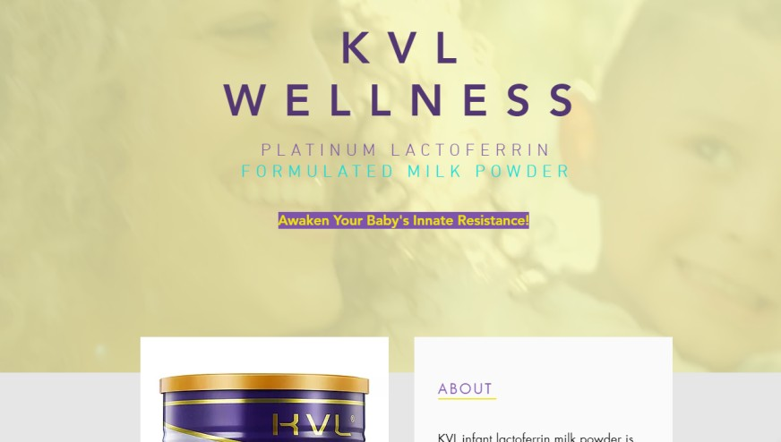 Platinum Lactoferrin Formulated Milk Powder