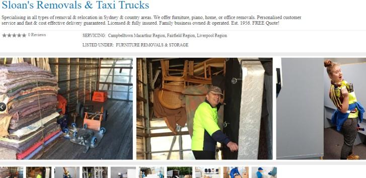 Sloan Removals Taxi Trucks