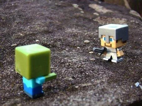 Minecraft, Steve, Zombie, Toys, Sword