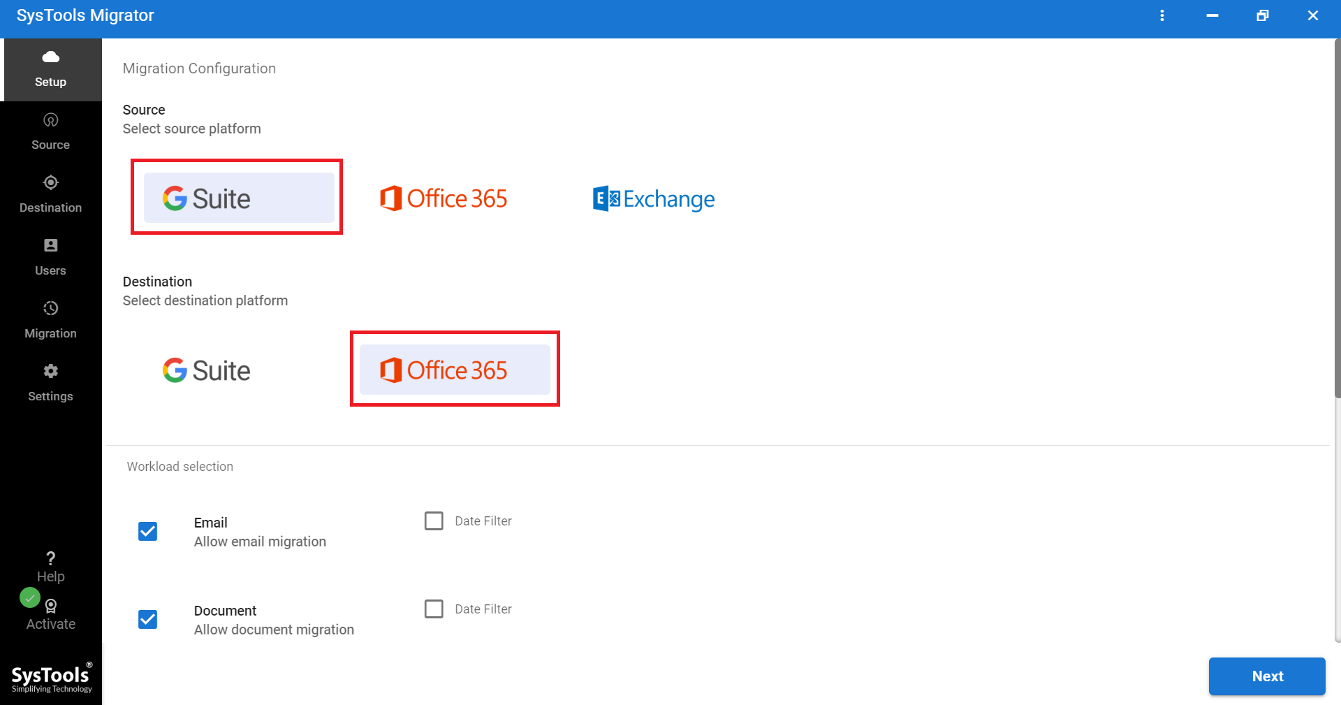 migrating business Gmail to Office 365 directly