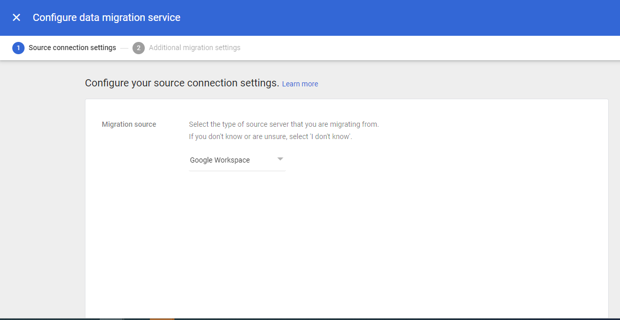 Google Workspace as a source