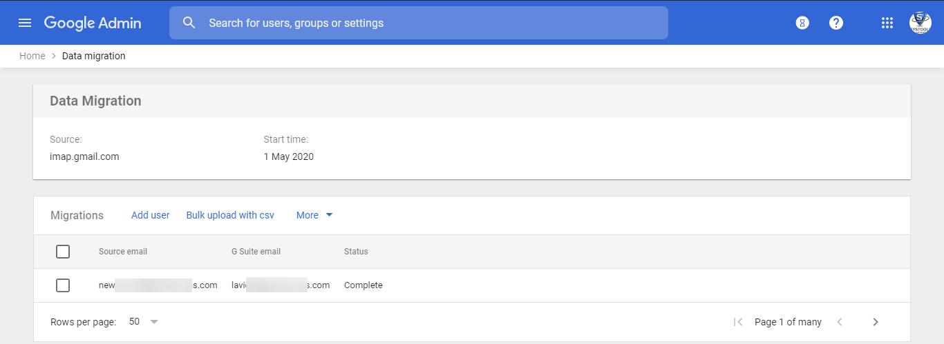 Limitation of Google Workspace Migration Service