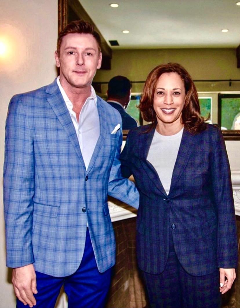 Sean Borg supporting Senator Kamala Harris