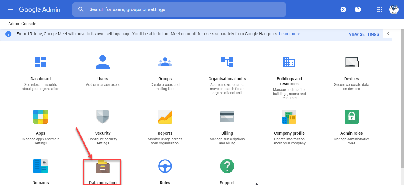 Using DMS to Transfer Data Between G Suite Accounts