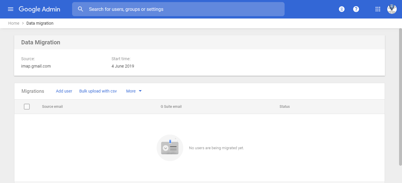 mapping G Suite user