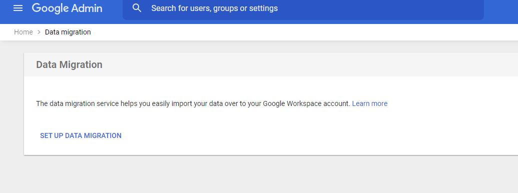 set data migration