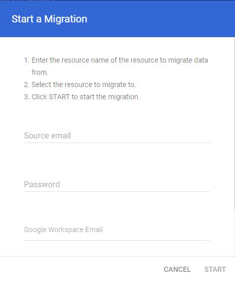 transferring single user account data