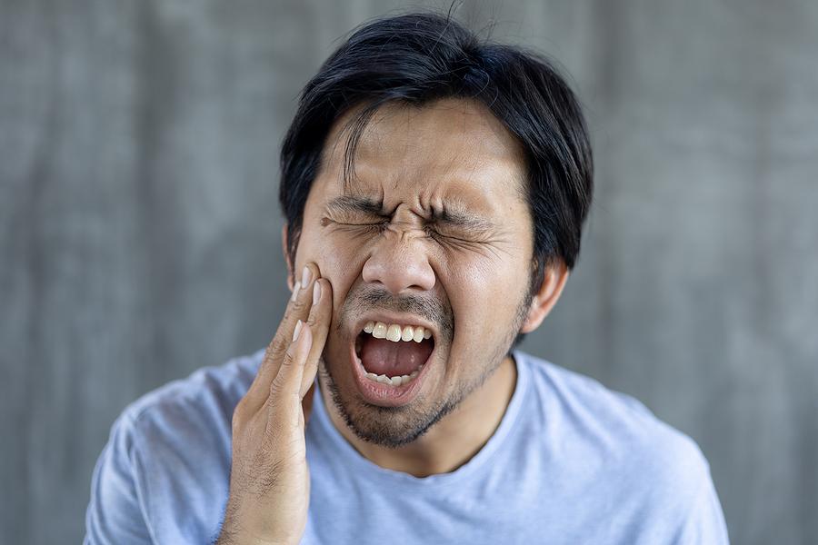 Having sensitive teeth