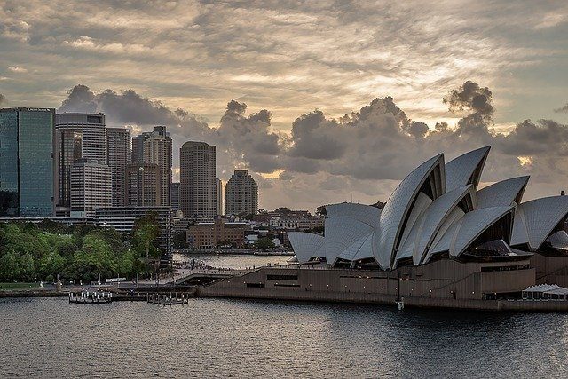 Sydney Opera House with apartments that require patience for property development.