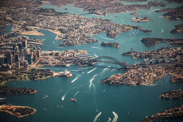 Sydney harbour community residential developments.