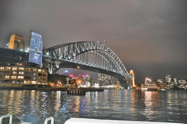 Sydney harbour bridge housing development market.