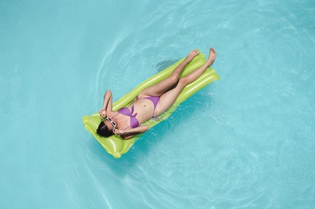Myra Swim in the pool.