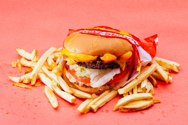 A burger and chips with fast food failures and successes.