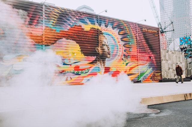 A Sydney mural artist quality mural on a wall.