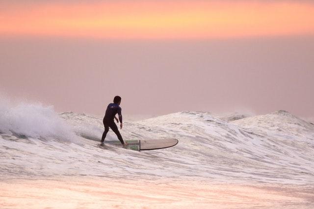 Beach holiday surfing.