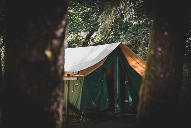 A tent to use from a tent for hire service.
