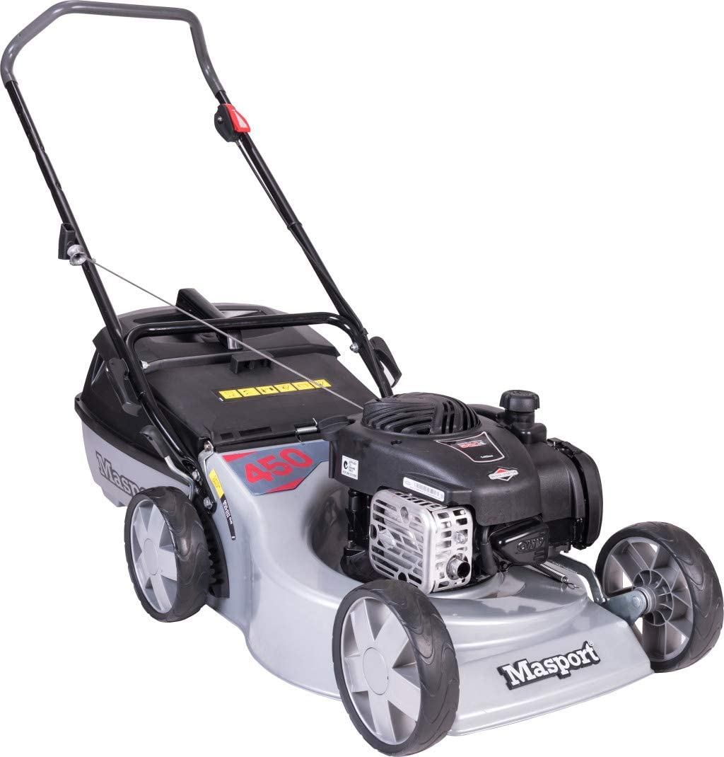 The long-lasting petrol lawn mower