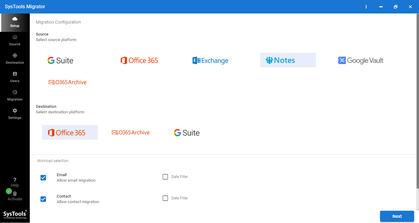Migrate Lotus Notes to Office 365