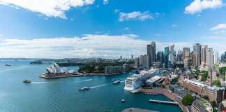 Panorama view of Sydney Harbor Bay